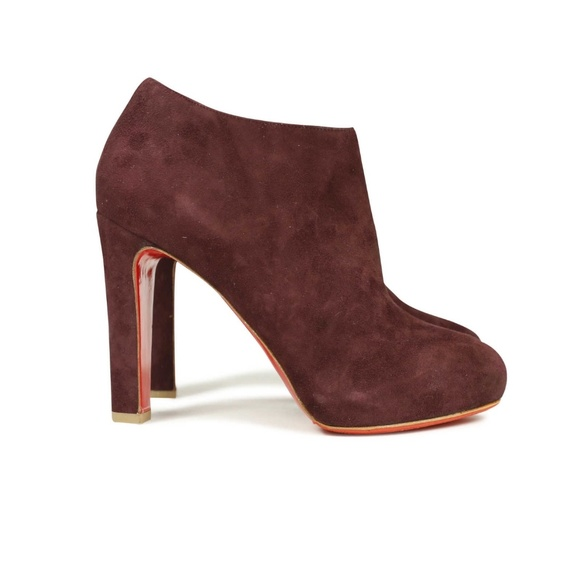 c50fc044f36 AUTHENTIC! Christian Louboutin Maroon Booties 120